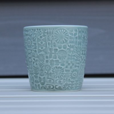 BIRDS' WORDS(バーズワーズ)PATTERNED CUP squallgray main