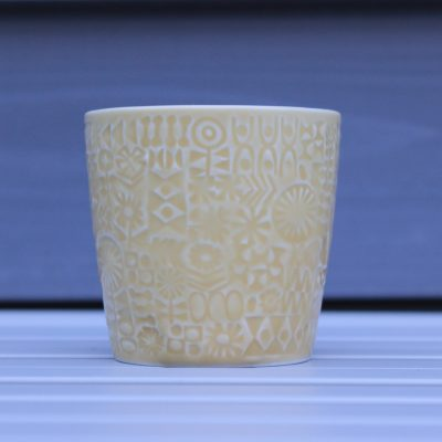 BIRDS' WORDS(バーズワーズ)PATTERNED CUP yellow main