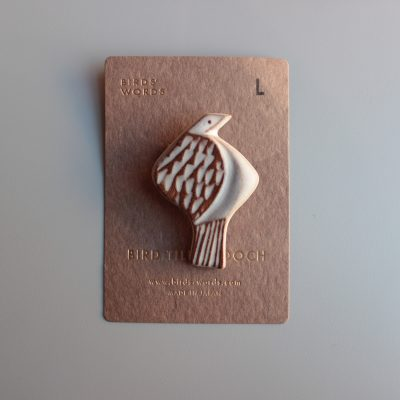 BIRDS' WORDS BIRD TILE BROOCH L main