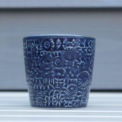 BIRDS' WORDS(バーズワーズ)PATTERNED CUP cobalt blue main